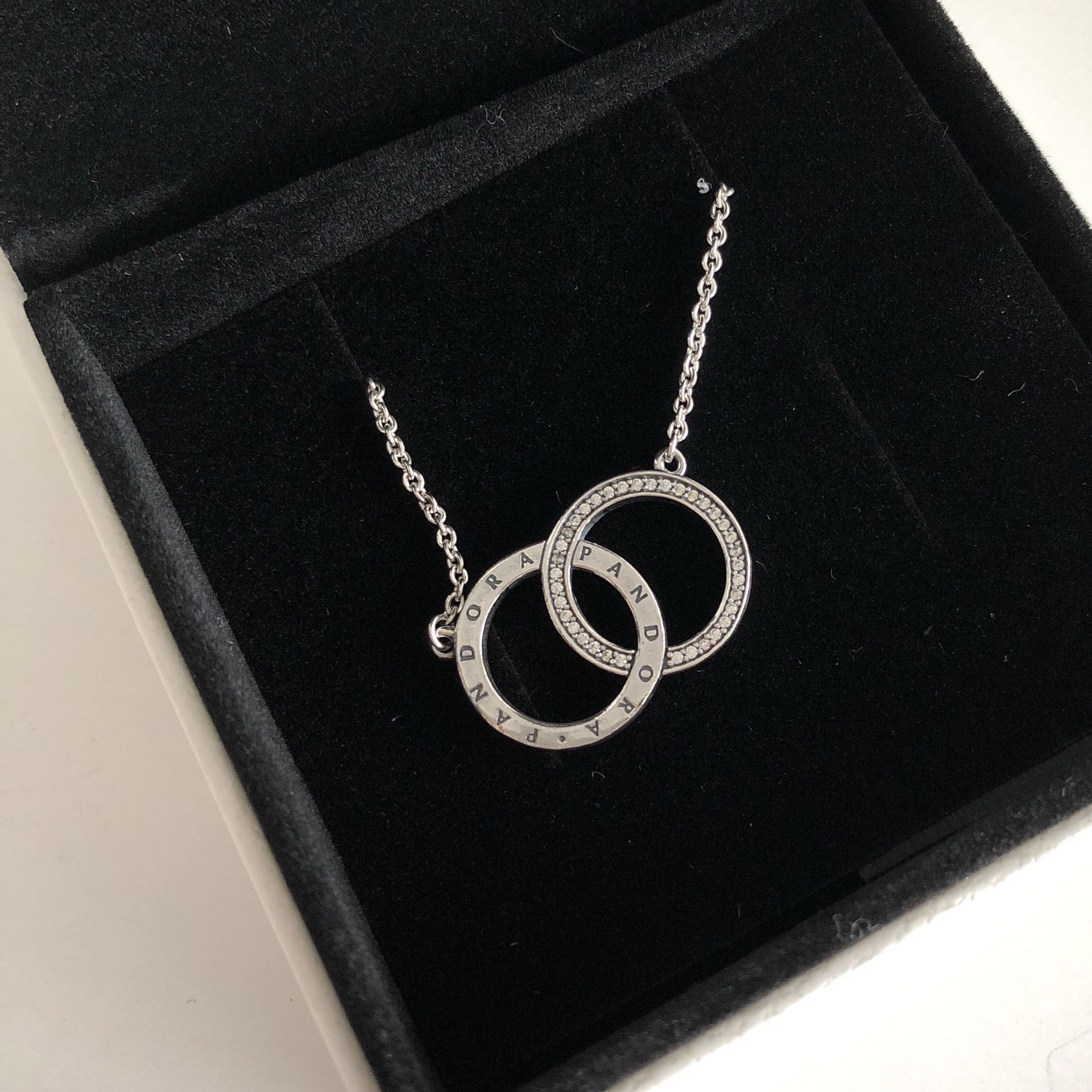 Pandora Circles Necklace, Luxury, Accessories On Carousell Pertaining To Latest Pandora Logo Circle Necklaces (View 13 of 25)
