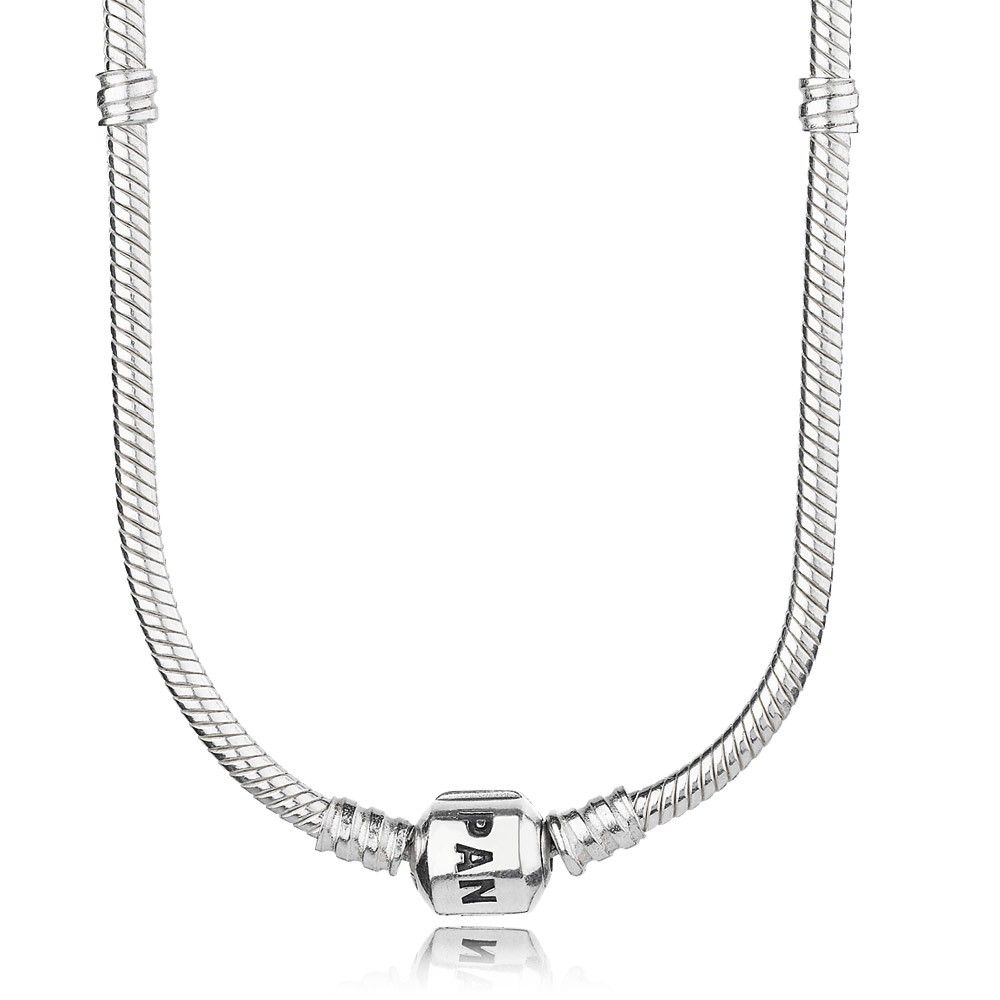 Pandora Collier Necklace 590703hv On Sale | Pandora Silver Necklace In Most Recently Released Pandora Moments Snake Chain Necklaces (Gallery 12 of 25)