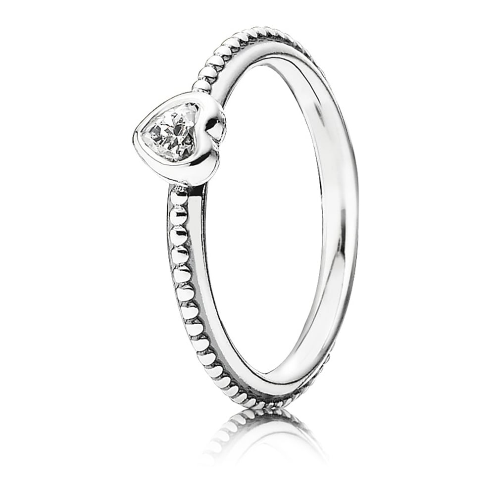 Pandora Cz Heart Ring Within 2017 Pandora Logo & Hearts Rings (View 17 of 25)