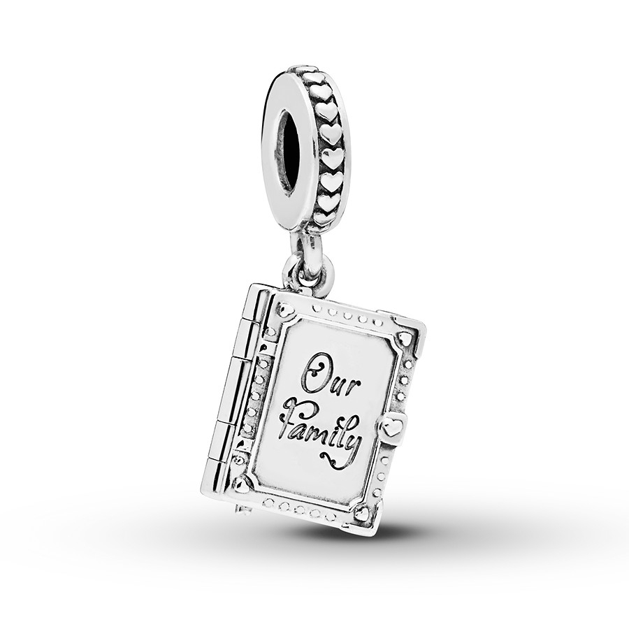 Pandora Dangle Charm Family Book Sterling Silver Pertaining To 2018 Dangling Family Tree Rings (View 12 of 25)