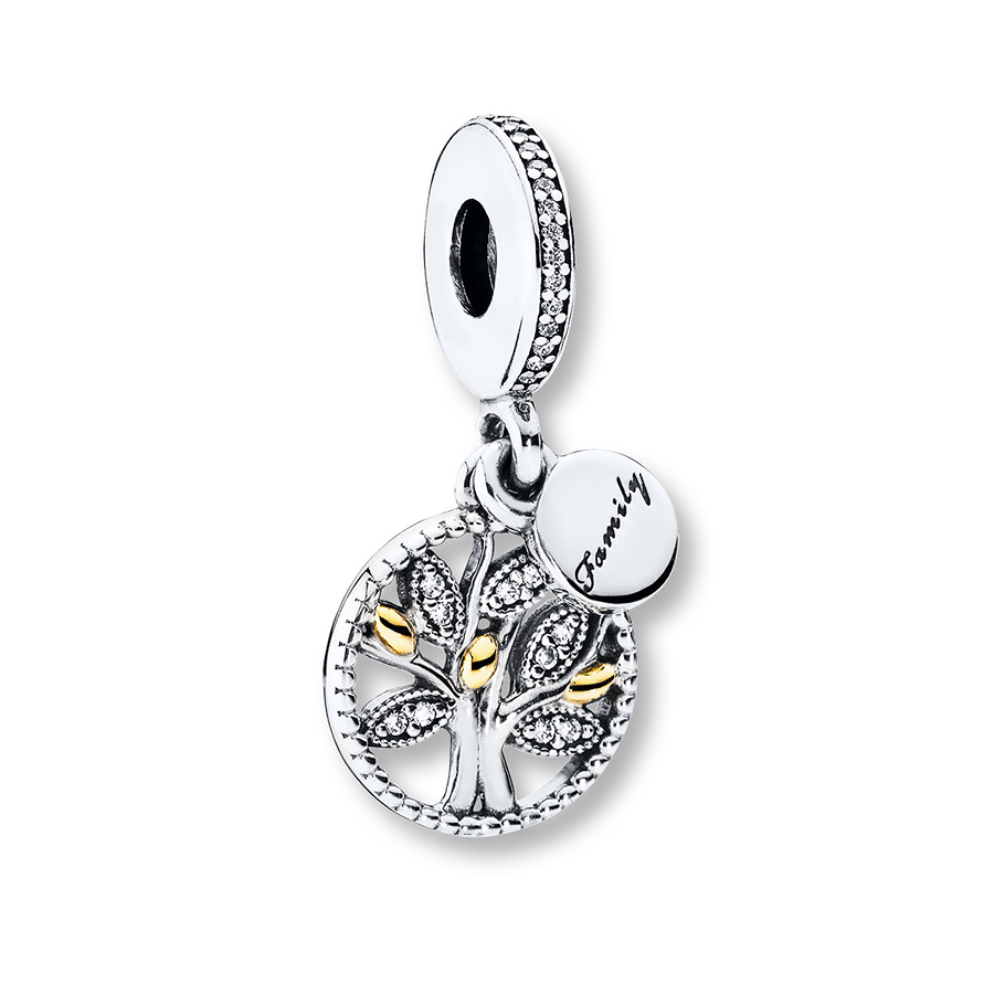 Pandora Dangle Charm Family Heritage Sterling Silver/14K Gold Throughout Most Popular Dangling Family Tree Rings (View 13 of 25)