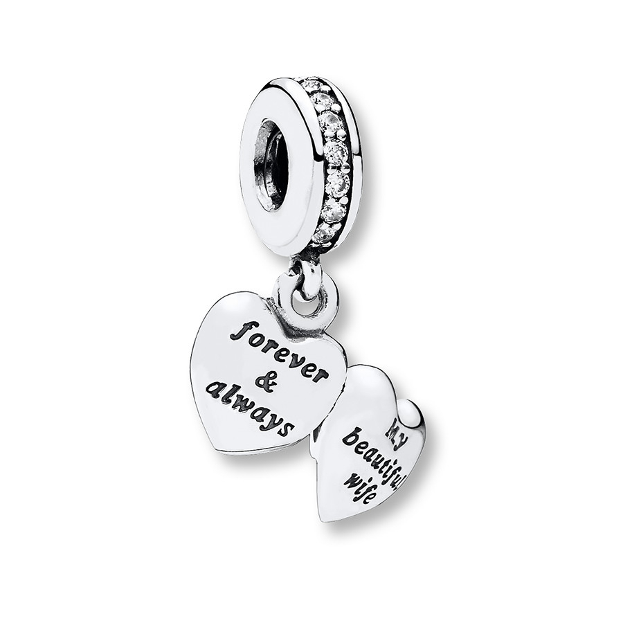 Pandora Dangle Charm My Beautiful Wife Sterling Silver Intended For Recent Pandora Lockets Logo Dangle Charm Necklaces (Gallery 23 of 25)