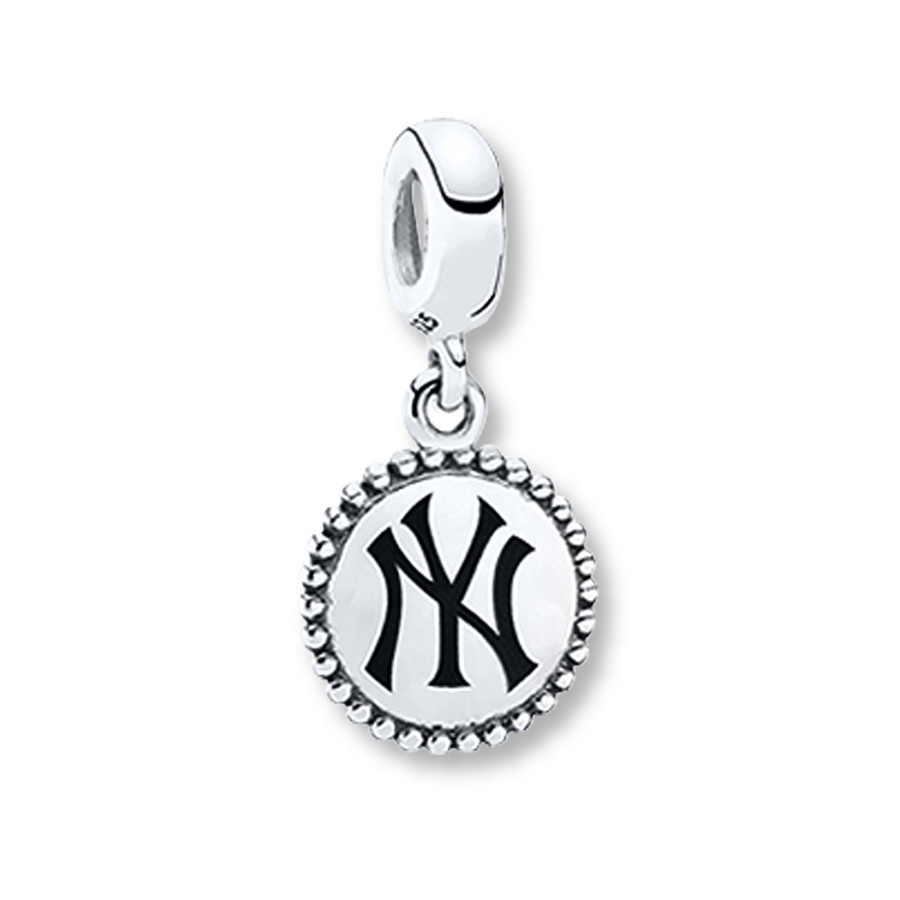 Pandora Dangle Charm New York Yankees Sterling Silver Throughout Most Up To Date Pandora Lockets Logo Dangle Charm Necklaces (Gallery 21 of 25)