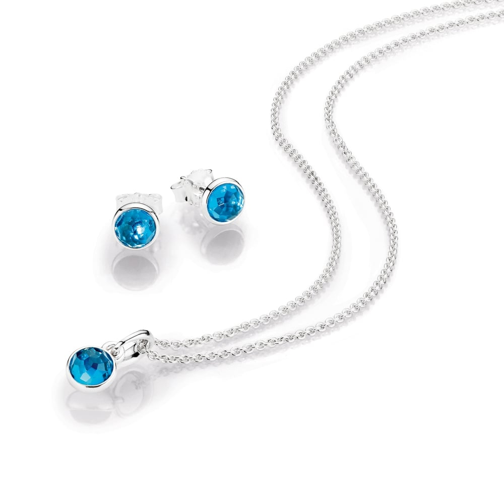 Pandora December Birthstone Pendant – Pendant Design Ideas Regarding Recent London Blue Crystal December Droplet Pendant Necklaces (View 9 of 25)