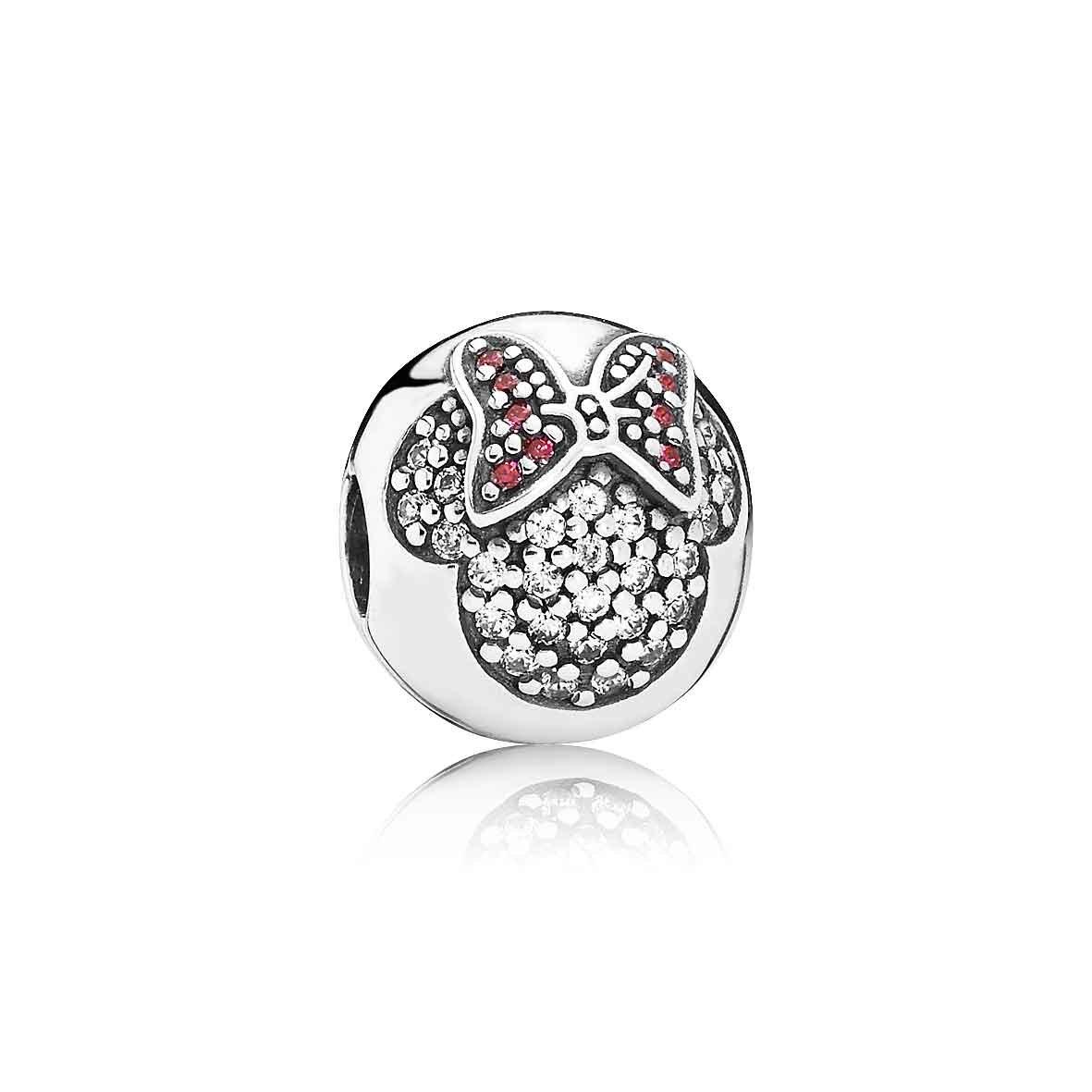 Pandora Disney Clip Minnie Pavé With Regard To Most Up To Date Pandora Logo Pavé Rings (View 18 of 25)