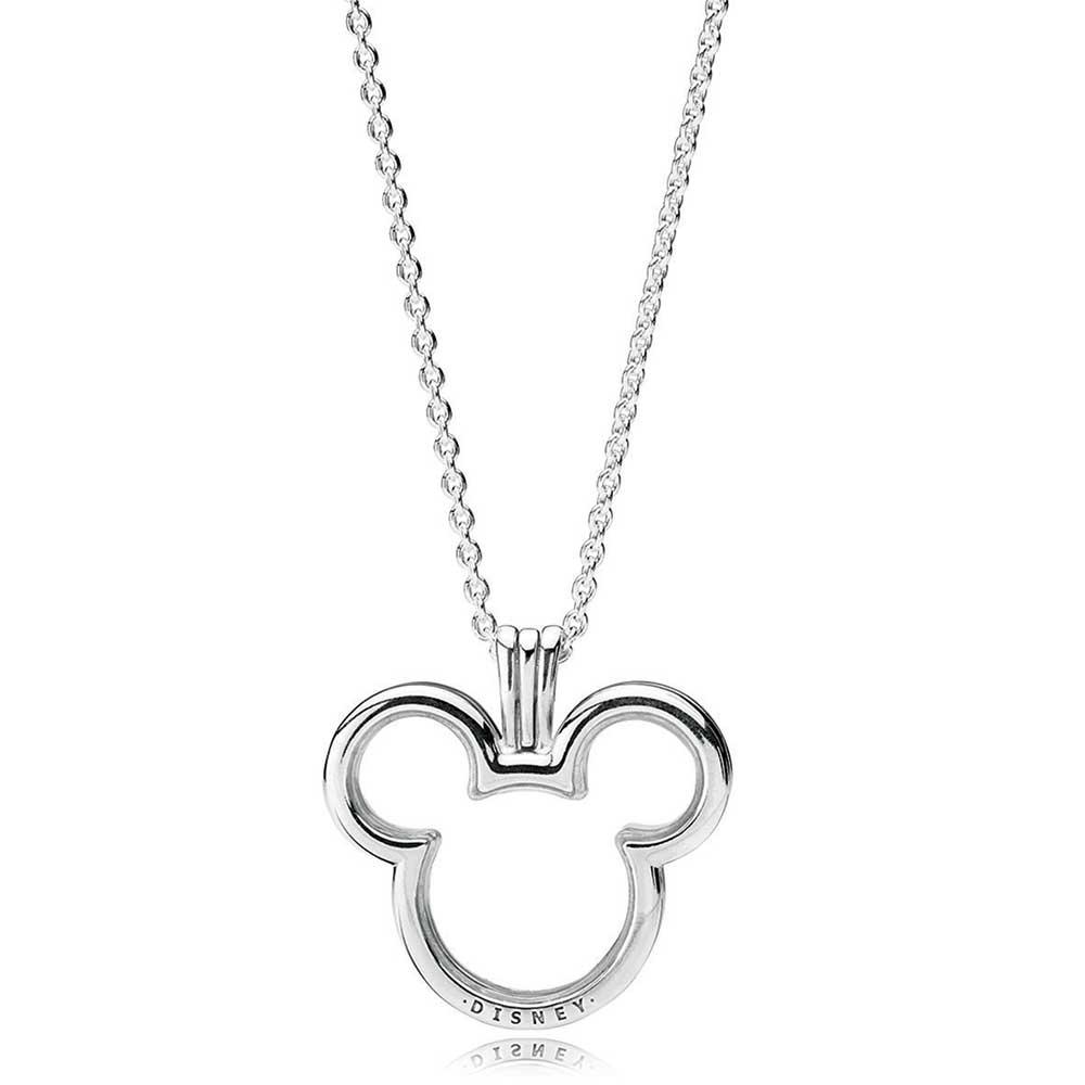 Pandora Disney, Mickey Floating Cz Locket Regarding Most Current Disney Mickey Floating Locket Necklaces (View 19 of 25)