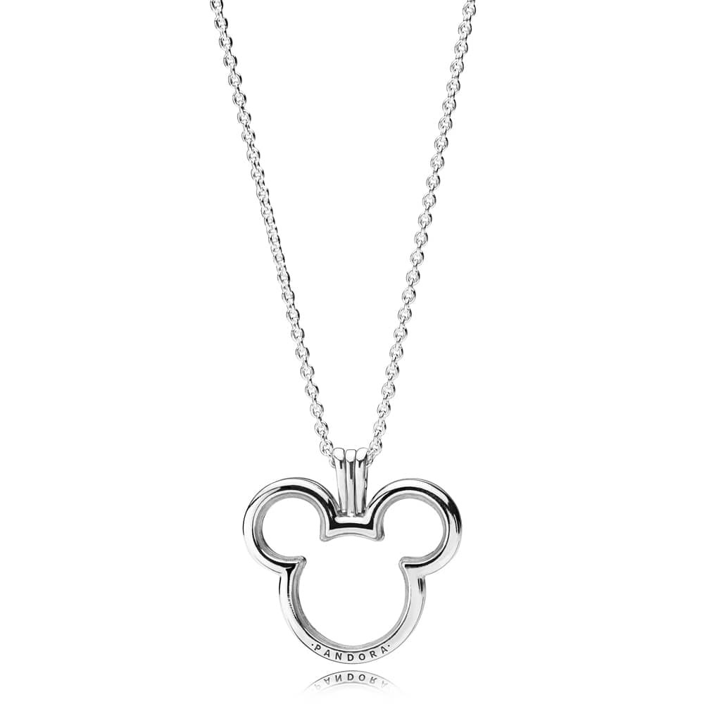 Pandora Disney Mickey Floating Locket Necklace 397177 Regarding Most Up To Date Disney Classic Mickey Pendant Necklaces (View 20 of 25)