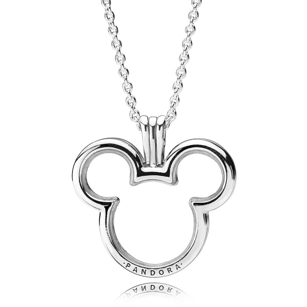 Pandora Disney Mickey Floating Locket Necklace 397177 With Regard To Most Up To Date Pandora Lockets Logo Necklaces (View 10 of 25)