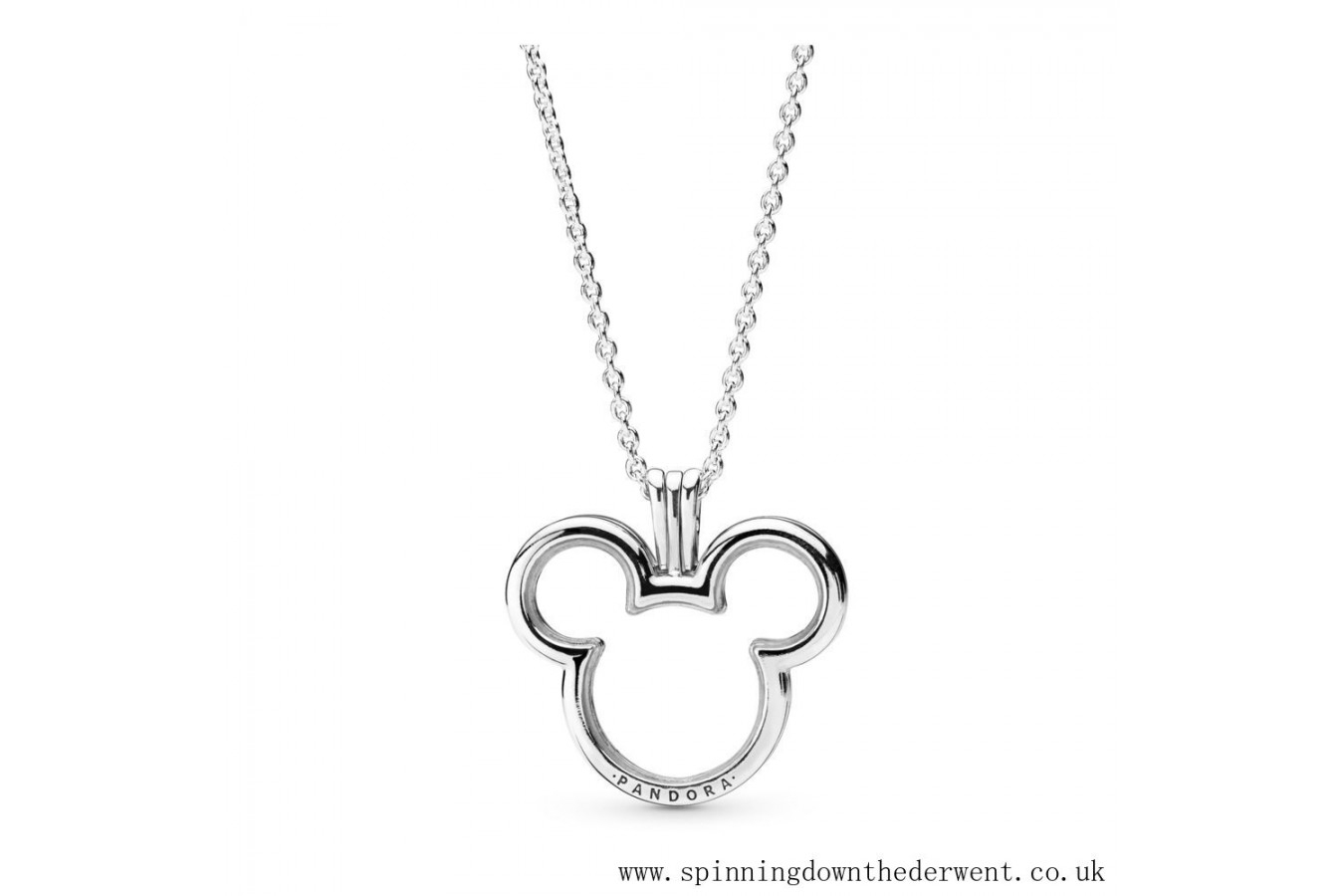 Pandora Disney, Mickey Floating Locket Necklace Sterling Silver, Glass In Latest Disney, Sparkling Minnie Icon Petite Locket Charm Necklaces (View 11 of 25)