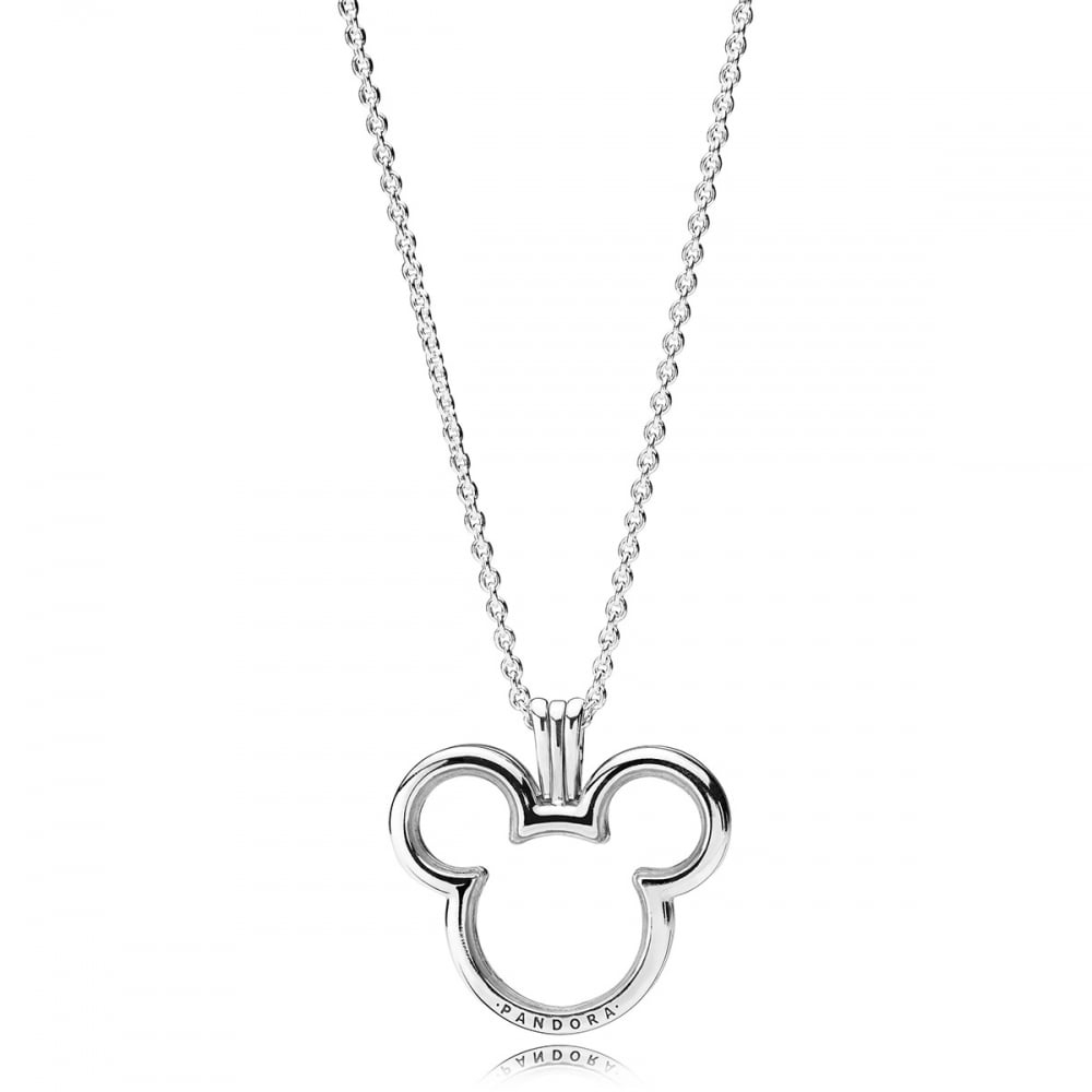 Pandora Disney, Mickey Locket Necklace With Latest Pandora Lockets Logo Necklaces (View 9 of 25)