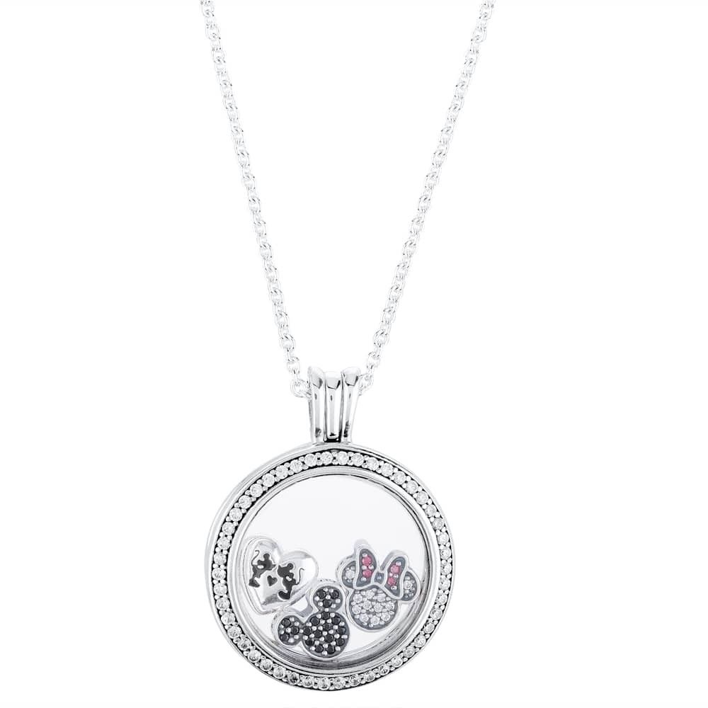 Pandora Disney Mickey Mouse And Minnie Mouse's Love Complete Petite With 2020 Disney Mickey Floating Locket Necklaces (View 8 of 25)