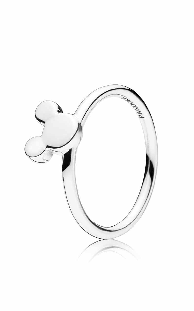 Pandora Disney Mickey Silhouette Ring 197508 48   Rumanoff's Fine Jewelry &  Design In Most Recent Polished Heart Puzzle Rings (View 13 of 25)