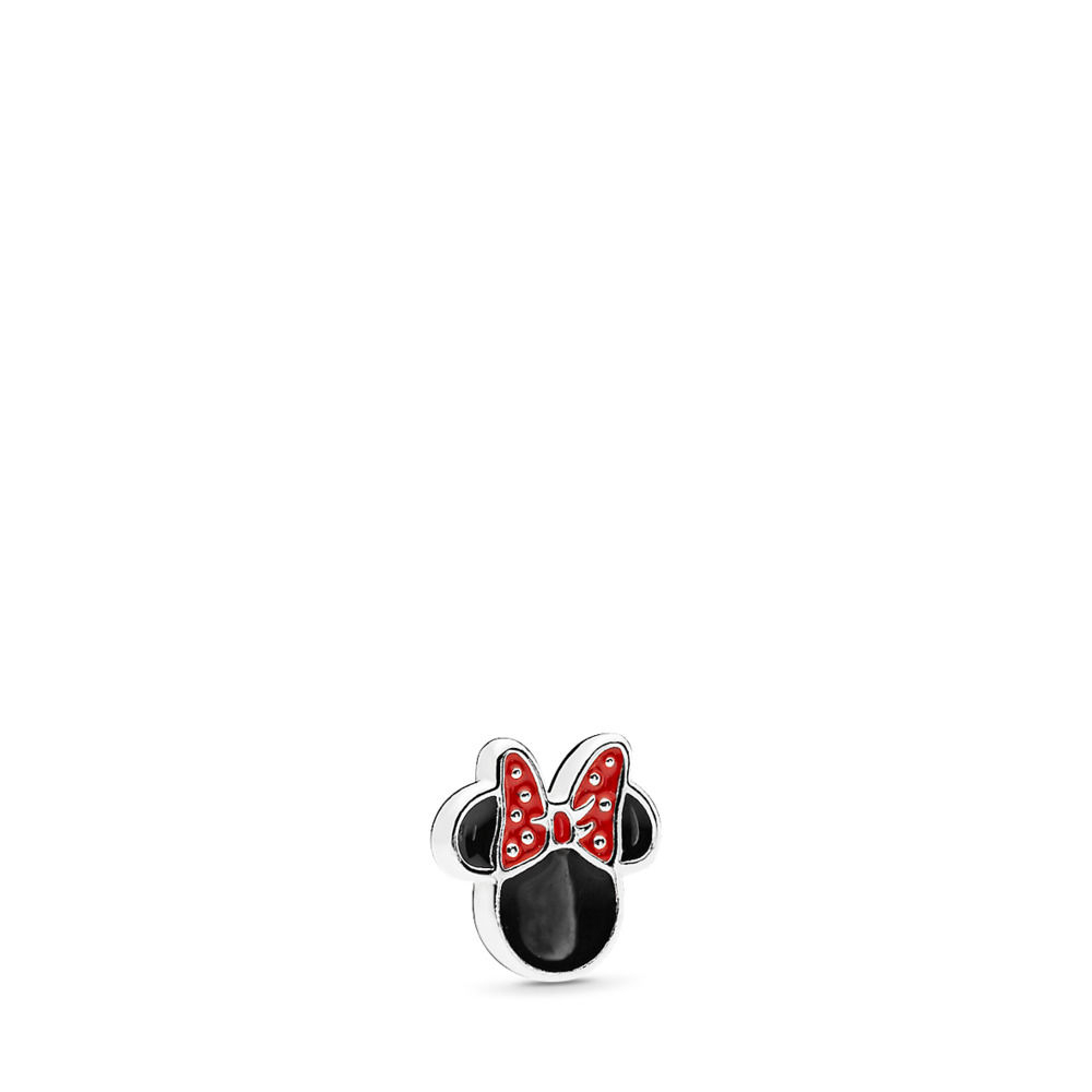 Pandora Disney, Minnie Icon Petite Locket Charm, Red & Black Enamel Inside Recent Disney Sparkling Mickey Icon Petite Locket Charm Necklaces (View 11 of 25)
