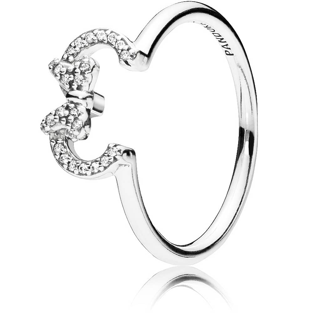 Pandora Disney Minnie Silhouette Ring 197509Cz With 2017 Disney Mickey Silhouette Rings (View 16 of 25)