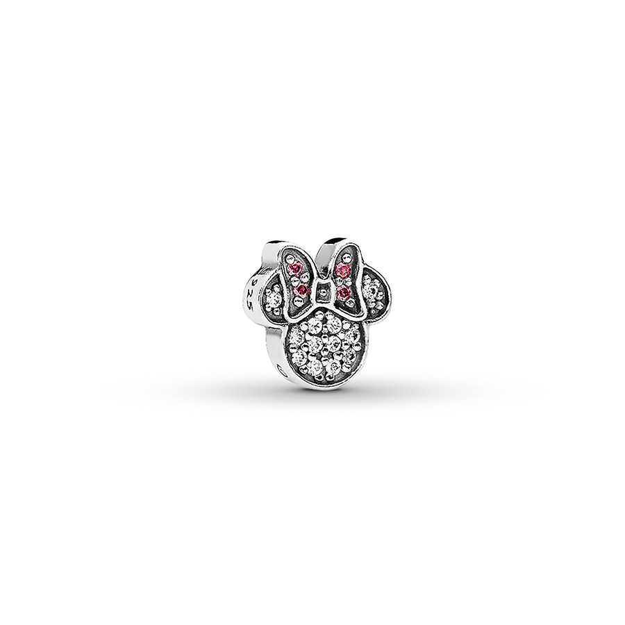Pandora Disney Petite Charm Sparkling Minnie Icon St. Silver Pertaining To Most Current Disney Sparkling Mickey Icon Petite Locket Charm Necklaces (Gallery 3 of 25)
