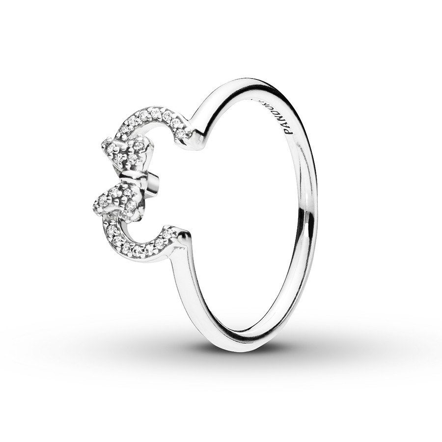 Pandora Disney Ring Minnie Silhouette Sterling Silver Inside 2018 Disney Mickey Silhouette Rings (View 18 of 25)