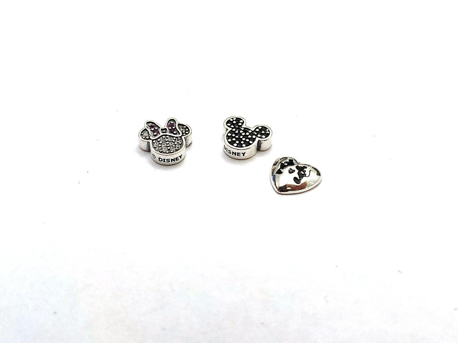 Pandora Disney Sparkling Mickey & Minnie Mouse Icon Petites Charms For Floating Locket Pendant With Best And Newest Disney, Sparkling Minnie Icon Petite Locket Charm Necklaces (View 7 of 25)