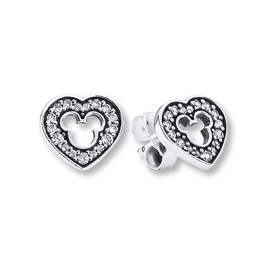 Pandora Earrings Disney, Mickey Silhouette/st (View 20 of 25)
