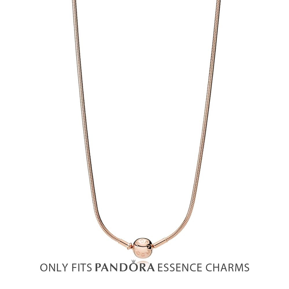 Pandora Essence Rose Necklace 387277 With Regard To Best And Newest Pandora Moments Medium O Pendant Necklaces (Gallery 17 of 25)