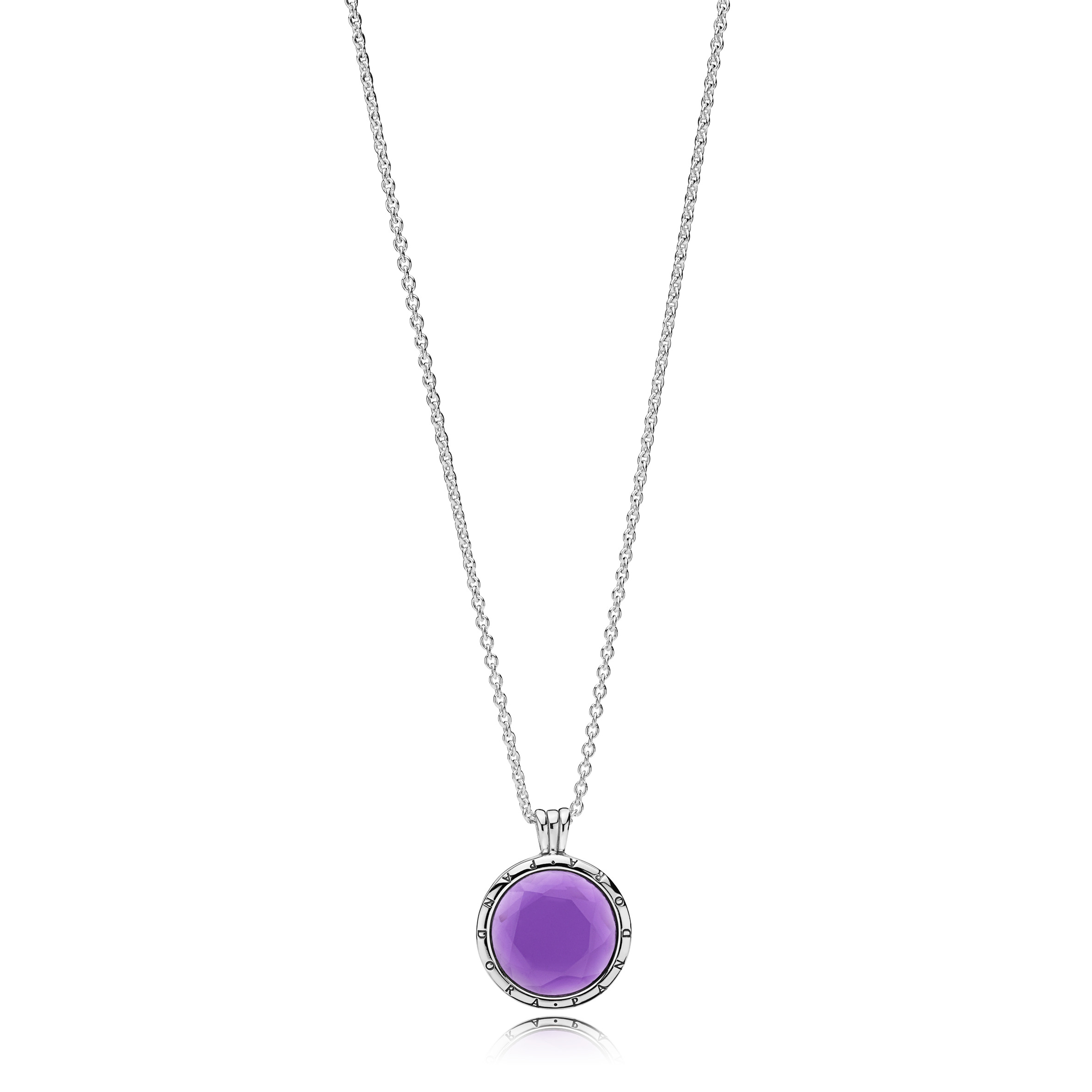Pandora Faceted Floating Locket Necklace Within Most Up To Date Pandora Lockets Logo Necklaces (View 16 of 25)