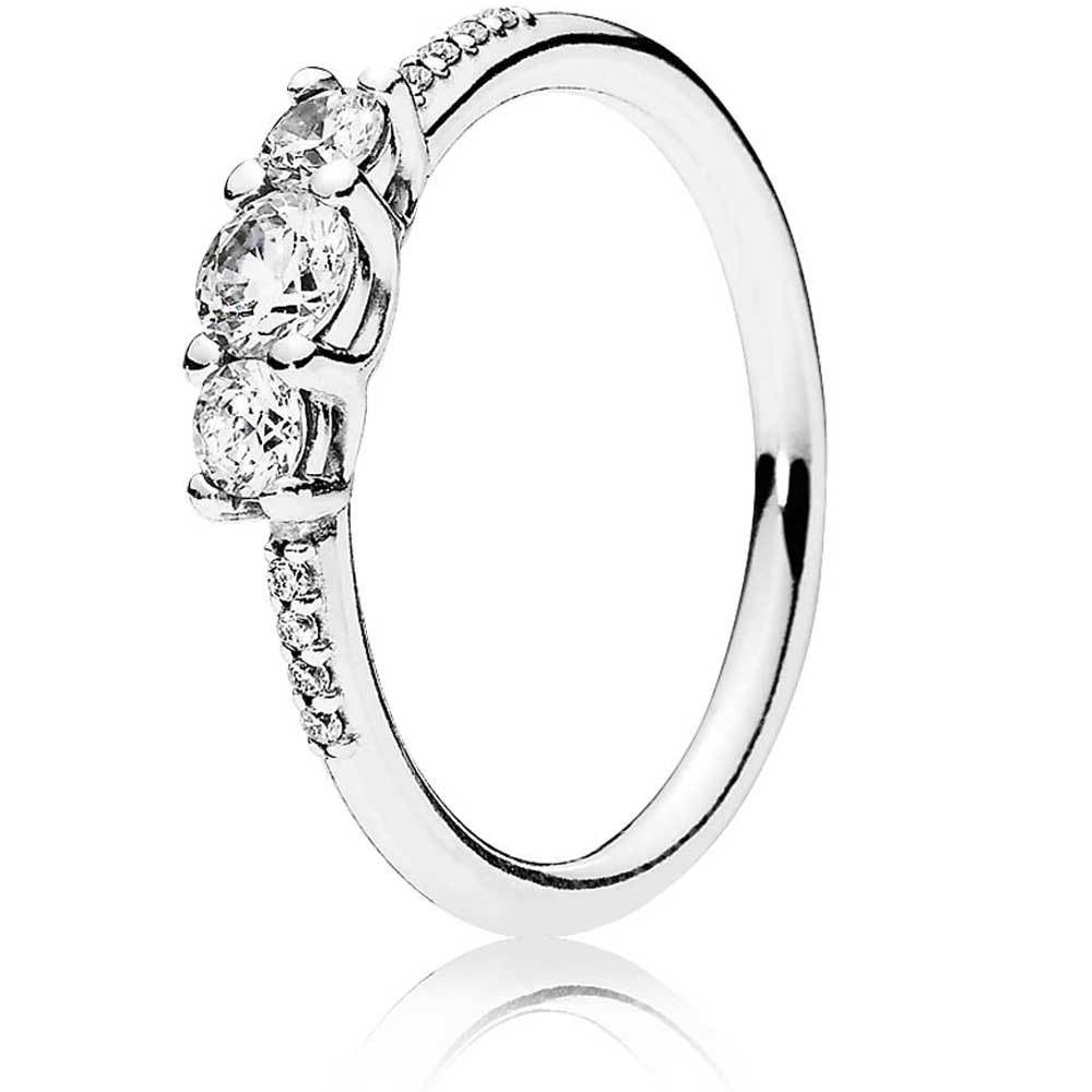 Pandora Fairytale Sparkle Ring 196242Cz With Regard To Recent Polished & Sparkling Hearts Open Rings (View 17 of 25)