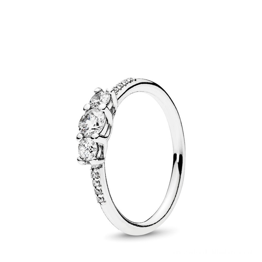 Pandora Fairytale Sparkle Ring Sterling Silver, Cubic Zirconia For Current Entwined Circles Pandora Logo & Sparkle Rings (View 8 of 25)