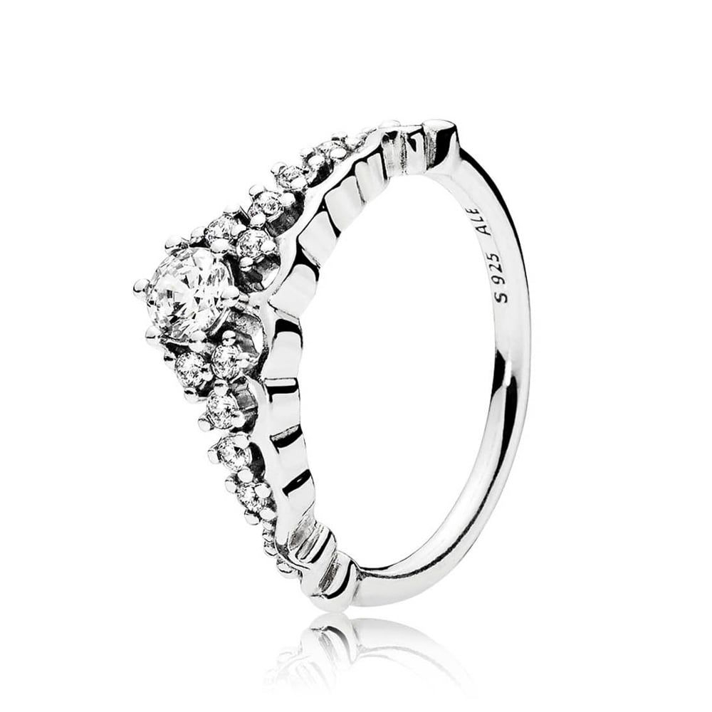 Pandora Fairytale Tiara Ring | Stuff I Want | Tiara Ring, Silver Intended For Latest Tiara Wishbone Rings (View 9 of 25)