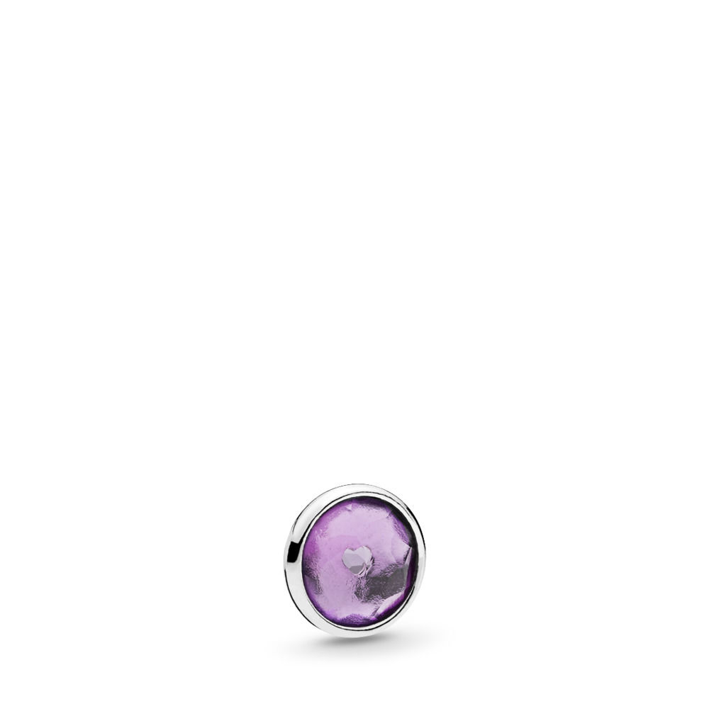 Pandora February Droplet Petite Locket Charm Intended For Latest Disney Sparkling Mickey Icon Petite Locket Charm Necklaces (View 20 of 25)