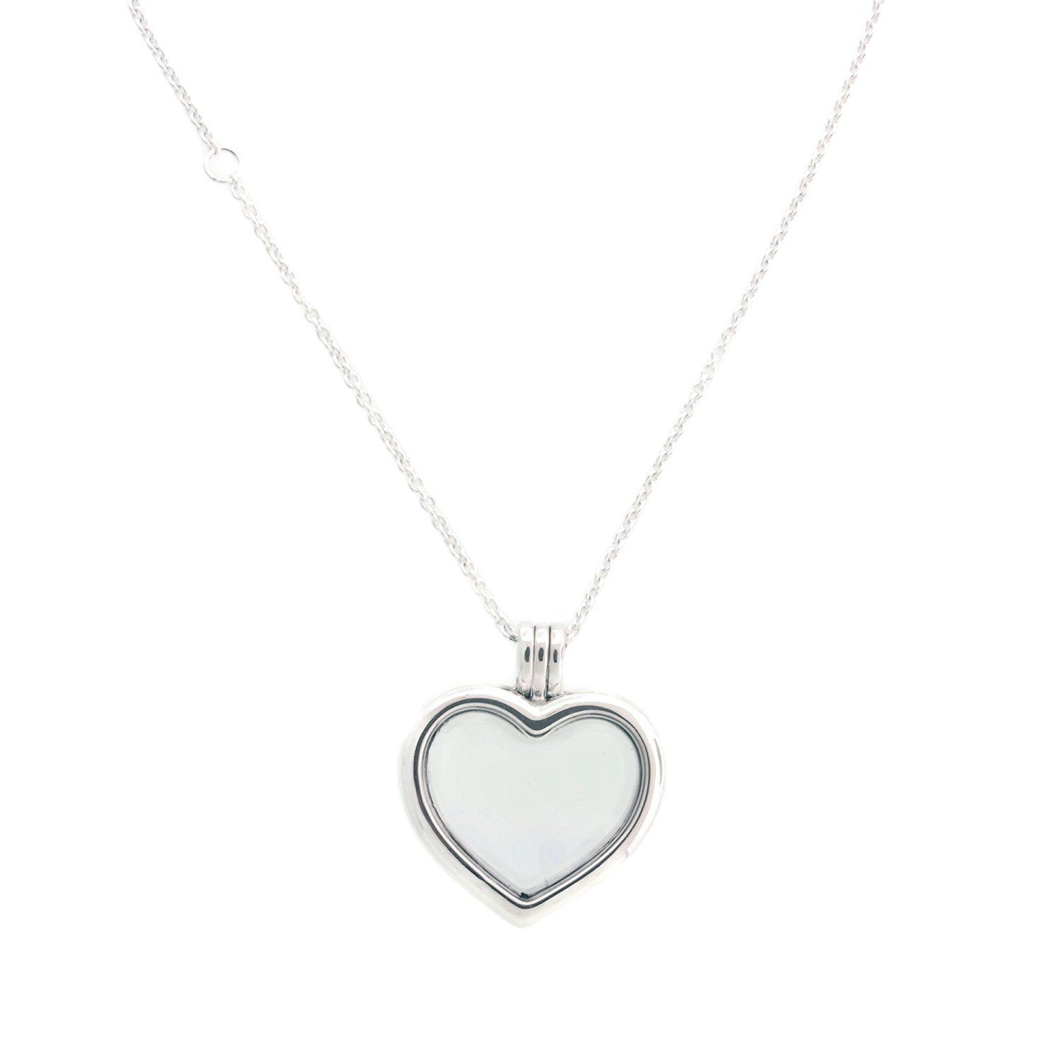Pandora Floating Heart Locket, Sapphire Crystal Glass #jewelrylover In 2019 Interlocked Hearts Locket Element Necklaces (View 5 of 25)