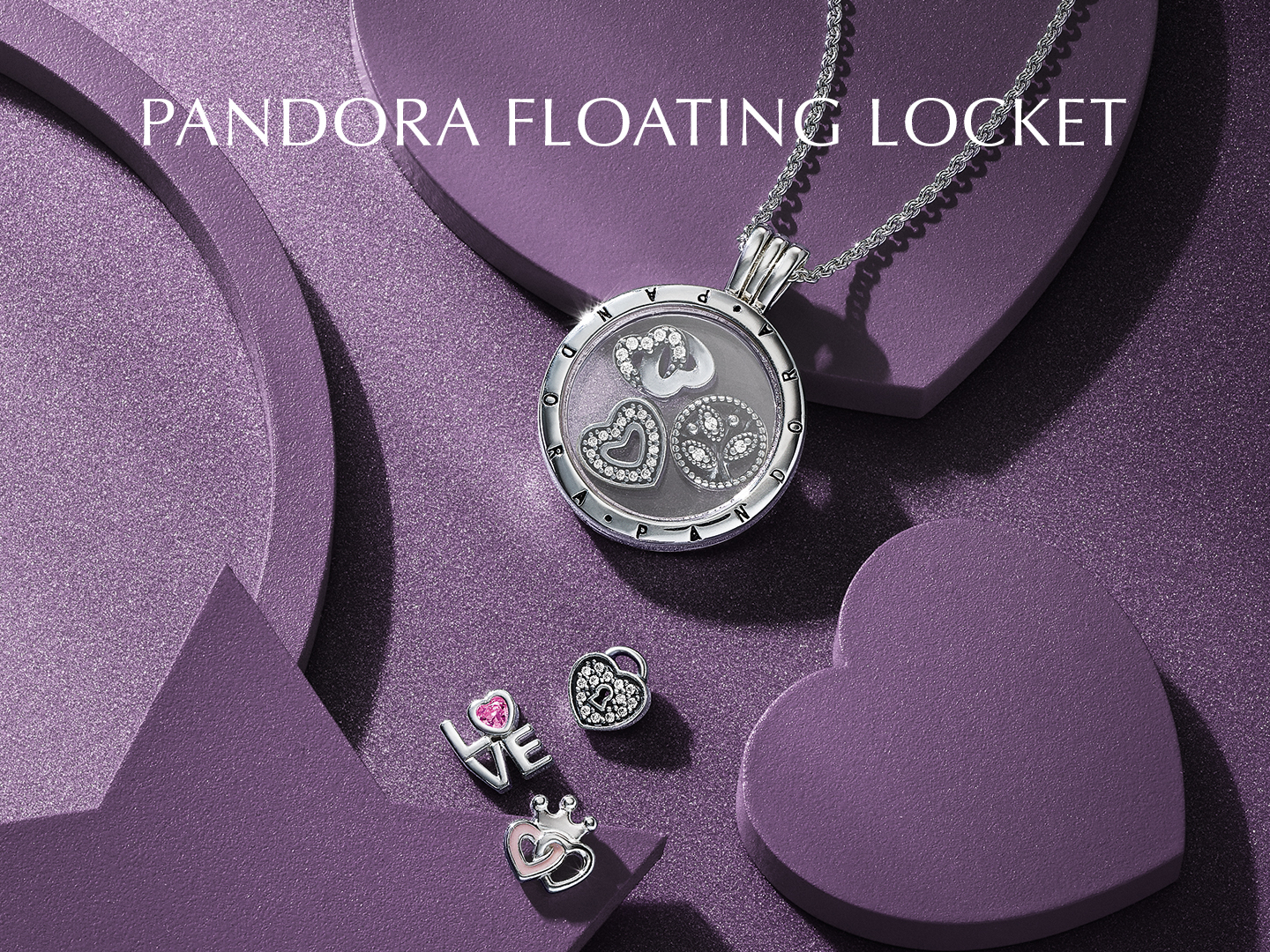 Pandora Floating Locket | Official Online Store Hong Kong | Pando Pertaining To Most Up To Date Pandora Lockets Logo Heart Dangle Charm Necklaces (View 11 of 25)