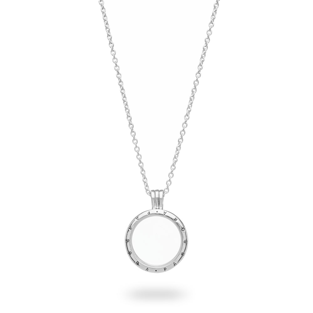 Pandora Floating Locket Pendant With Sapphire Crystal Glass In 2020 Pandora Lockets Logo Necklaces (View 13 of 25)