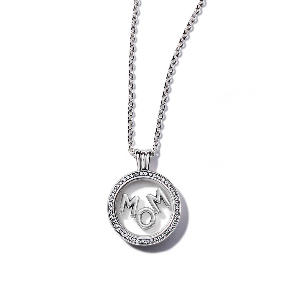 Pandora Floating Locket Sparkling Mom Gift Set Inside Most Recent Pandora Lockets Sparkling Necklaces (View 12 of 25)