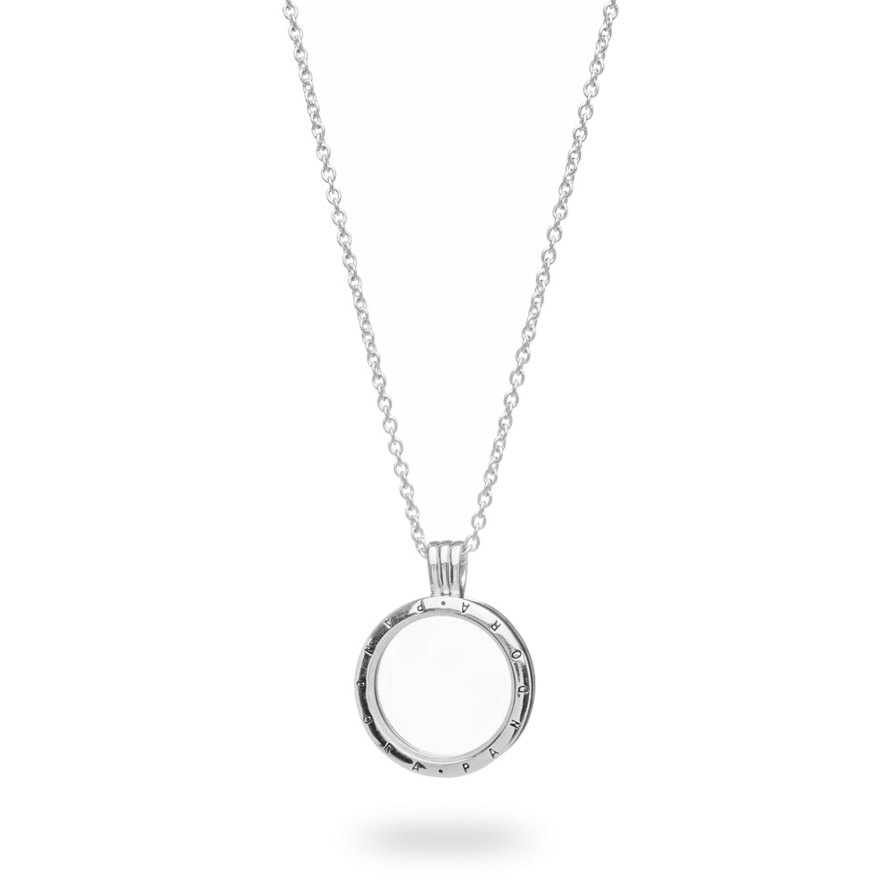 Pandora Floating Lockets Logo Necklace Silver, Glass Intended For Latest Pandora Logo Pavé Heart Locket Element Necklaces (View 5 of 25)