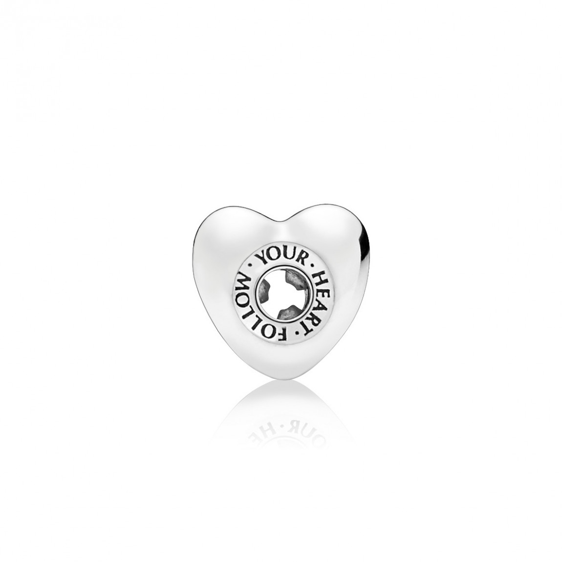 """Pandora """"follow Your Heart"""" Charm Intended For Current Heart Shaped Pandora Logo Rings (View 16 of 25)"""