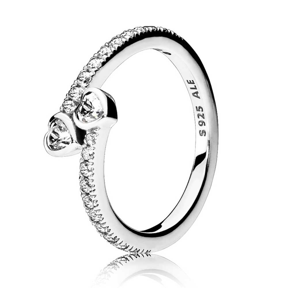 Pandora Forever Hearts Ring 191023Cz Intended For 2018 Hearts & Pandora Logo Rings (View 8 of 25)