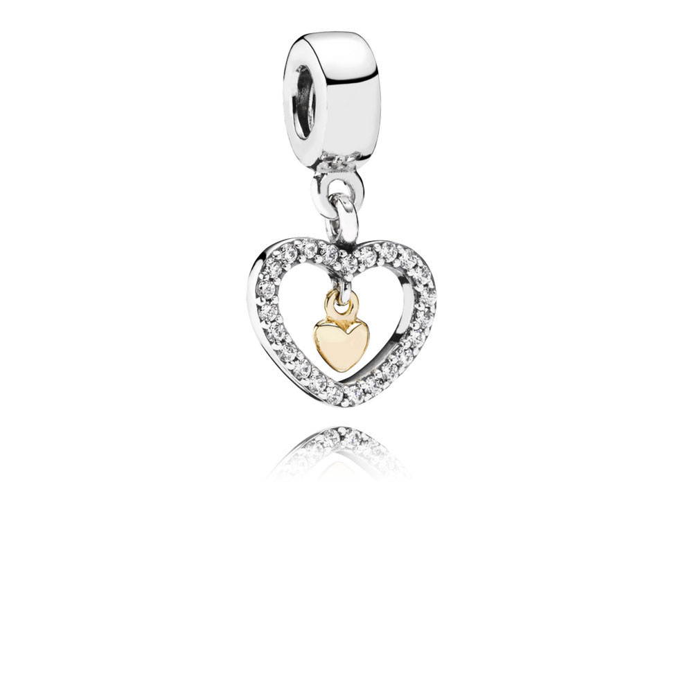 Pandora Forever In My Heart Charm, Sterling & 14K Within Most Popular Pandora Lockets Logo Heart Dangle Charm Necklaces (View 12 of 25)