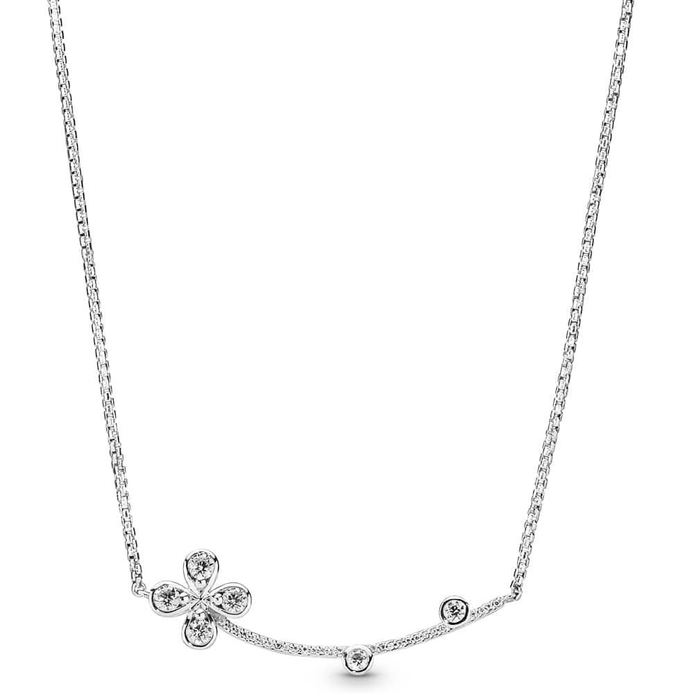 Pandora Four Petal Flower Necklace 397956cz Regarding Recent Four Petal Flower Necklaces (View 3 of 25)