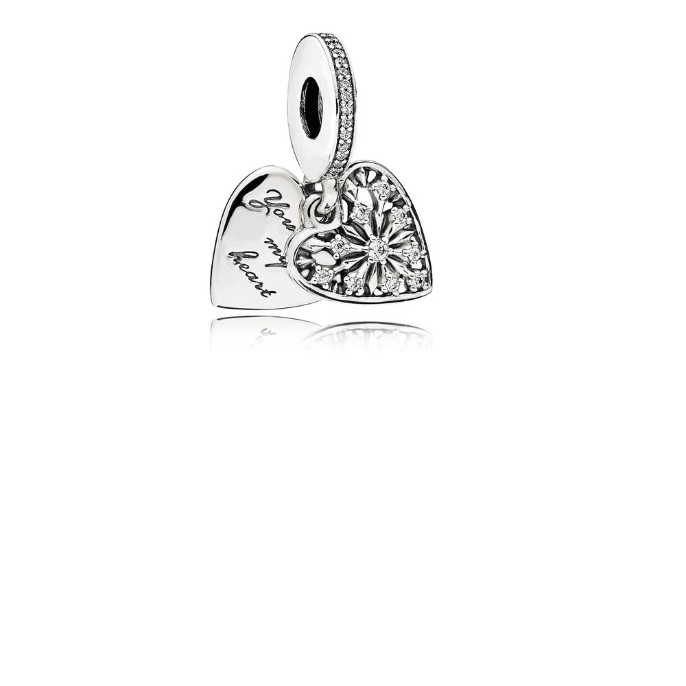 Pandora Heart Of Winter Dangle Charm, Clear Cz – 796372Cz – Pandora Throughout 2019 Heart Of Winter Necklaces (View 14 of 25)