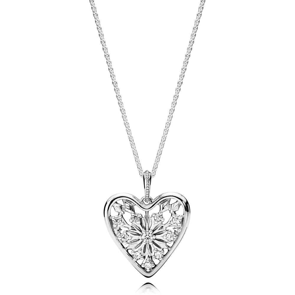 Pandora Heart Of Winter Necklace With Regard To Most Popular Pandora Moments Small O Pendant Necklaces (View 17 of 25)