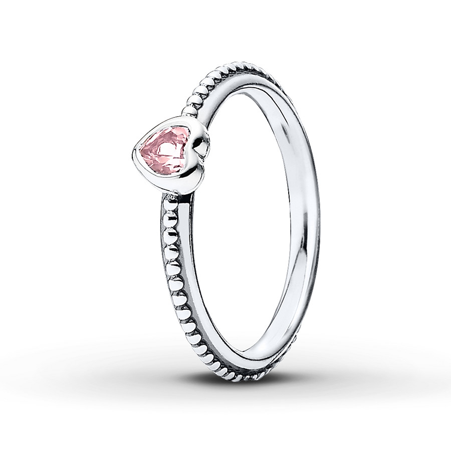 Pandora Heart Ring Synthetic Sapphire Sterling Silver In Most Recently Released Heart Shaped Pandora Logo Rings (View 14 of 25)