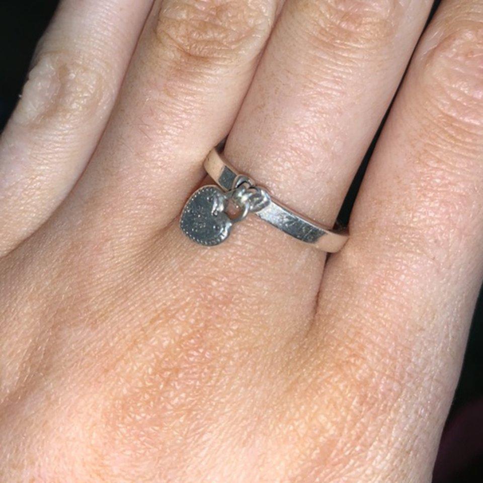 Pandora Heart Shaped Padlock Ring ❤️ Doesn't Get Worn – Depop With Regard To Most Popular Heart Shaped Padlock Rings (View 11 of 25)