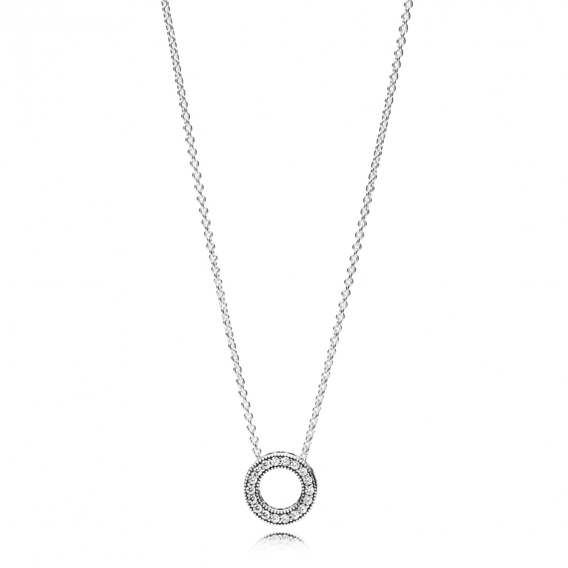 "Pandora ""hearts Of Pandora"" Necklace, Clear Cz Pertaining To Best And Newest Pandora Logo Circle Necklaces (View 5 of 25)"