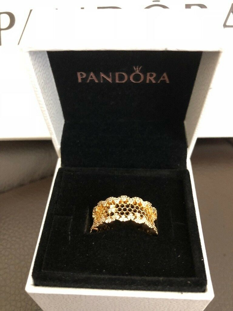 Pandora Honeycomb Lace Ring | In Leicester, Leicestershire | Gumtree Within Most Up To Date Honeycomb Lace Rings (View 2 of 25)