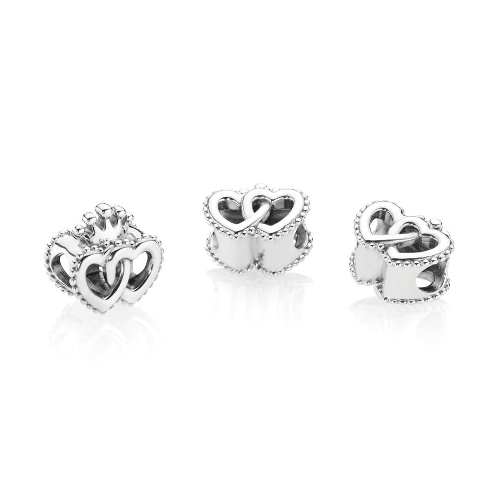 Pandora Interlocked Crown Silver Hearts Charm 797670 Black Friday Sale Within Most Recent Crown & Interwined Hearts Pendant Necklaces (View 13 of 25)