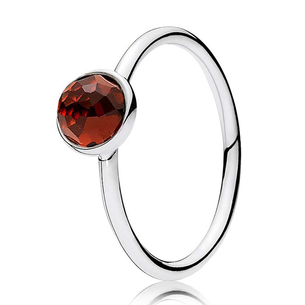 Pandora January Birthstone Droplet Ring 191012gr Throughout Current Garnet January Droplet Pendant Necklaces (View 7 of 25)