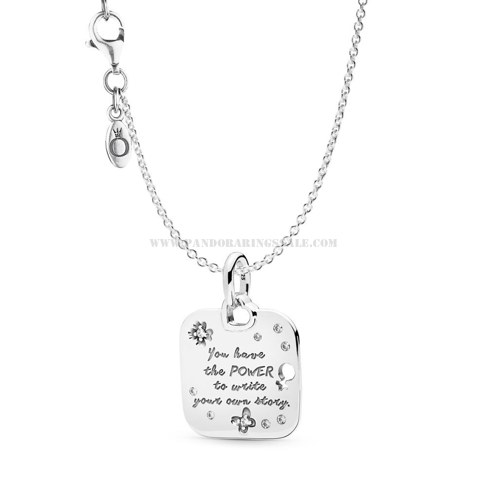 Pandora Jewellery Promotion | Cheap Pre Autumn Collection Wholesale In Latest Female Empowerment Motto Pendant Necklaces (View 7 of 25)