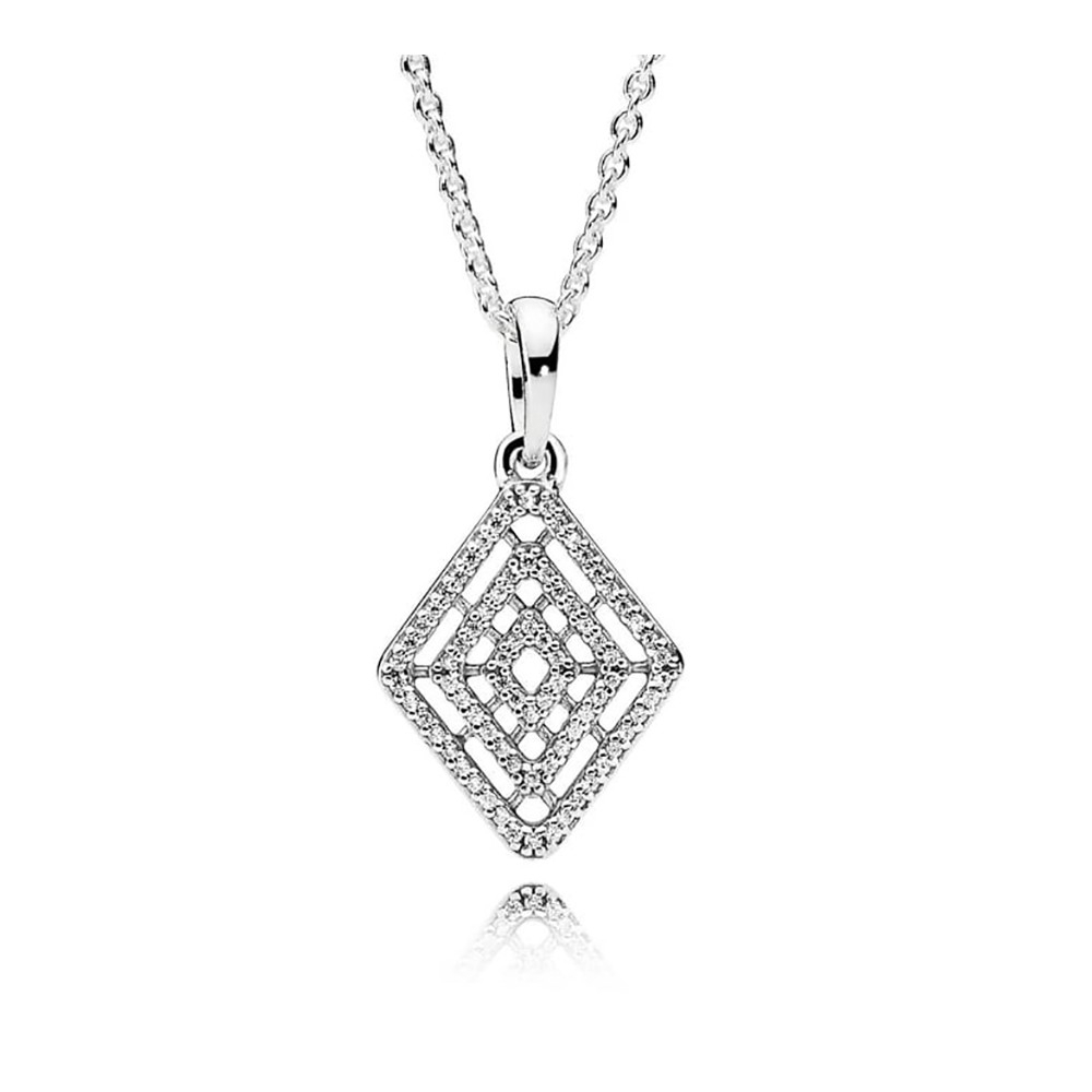 Pandora Jewelry Sale Online| Shop Geometric Lines Necklace 396209cz 60 Within Most Recent Geometric Lines Necklaces (View 3 of 25)