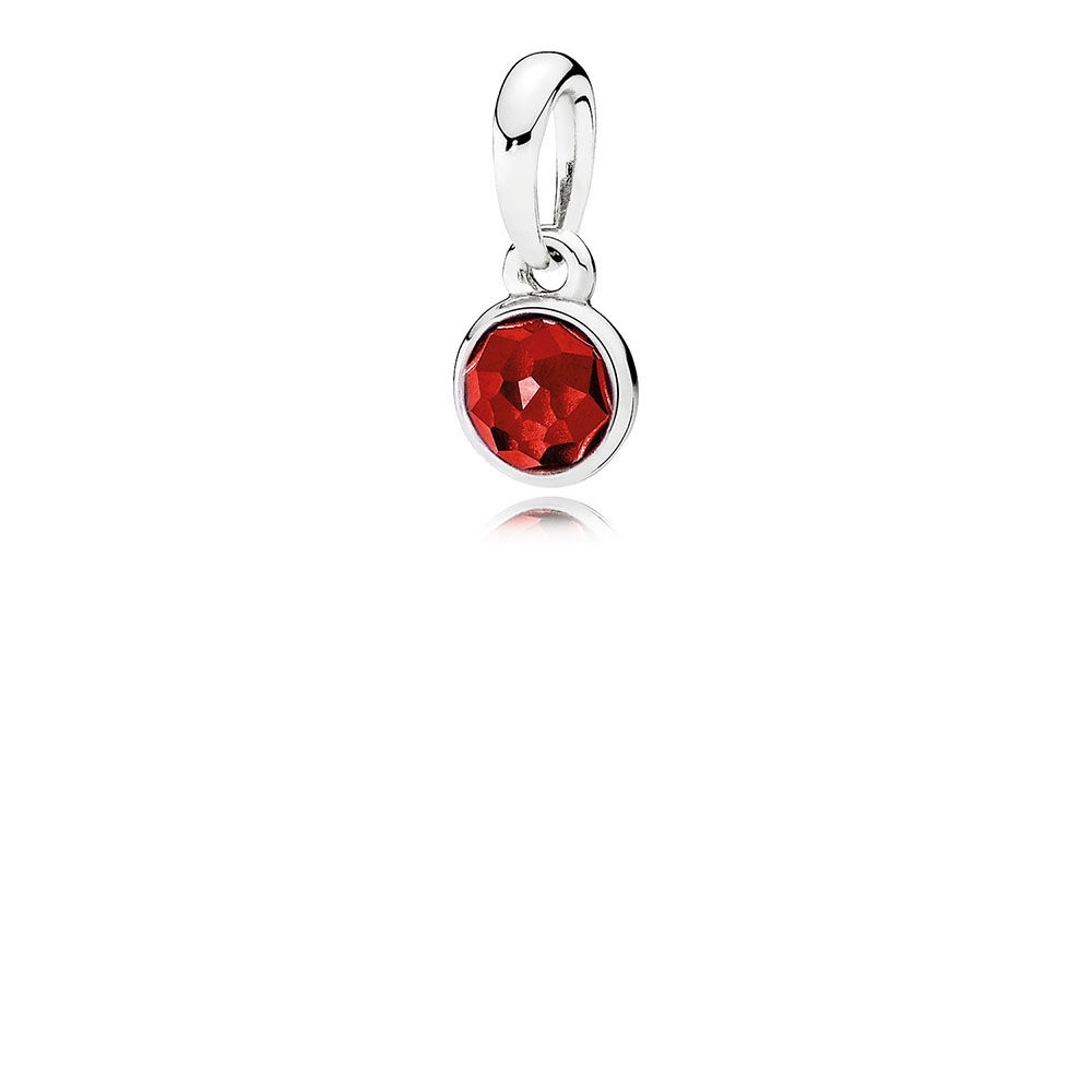 Pandora July Droplet Pendant, Synthetic Ruby 390396sru [390396sru Pertaining To Most Recent July Droplet Pendant, Synthetic Ruby Necklaces (View 2 of 25)