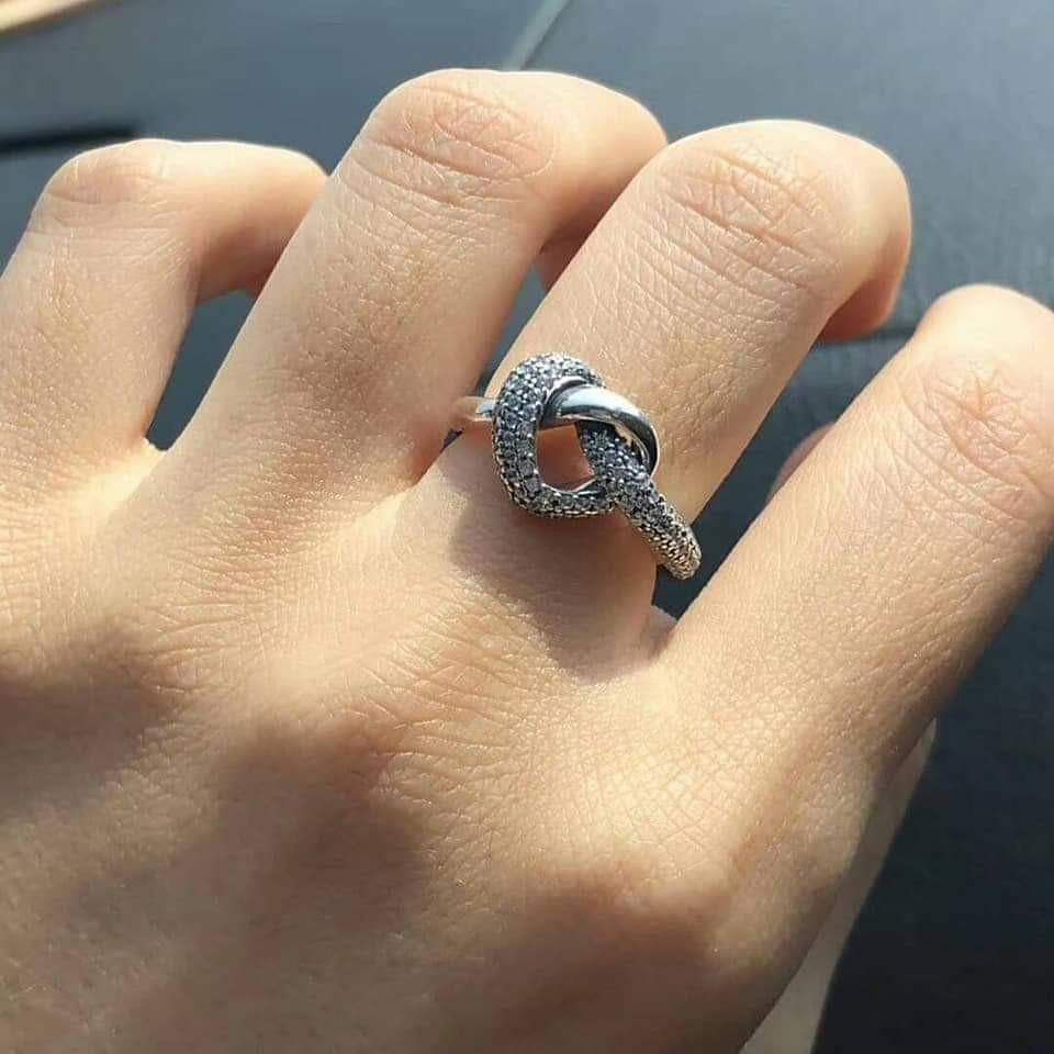 Pandora Knotted Heart Ring ❤, Women's Fashion, Jewelry, Rings On Regarding Most Up To Date Knotted Hearts Rings (View 13 of 25)