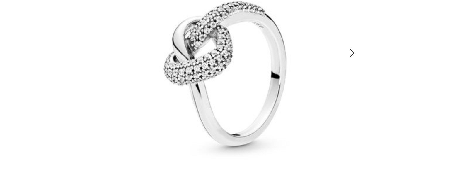 Pandora Knotted Heart Ring Size 54 Without Box With Regard To Most Up To Date Shimmering Knot Rings (View 15 of 25)